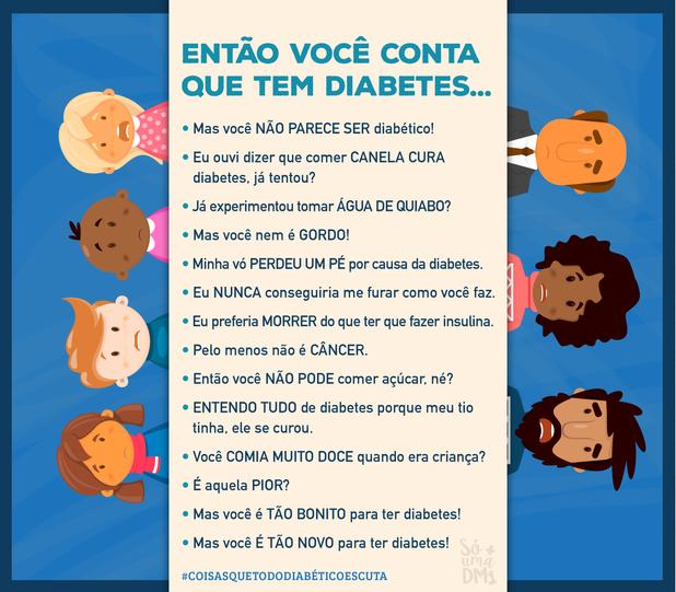 Coisas que todo diabético escuta