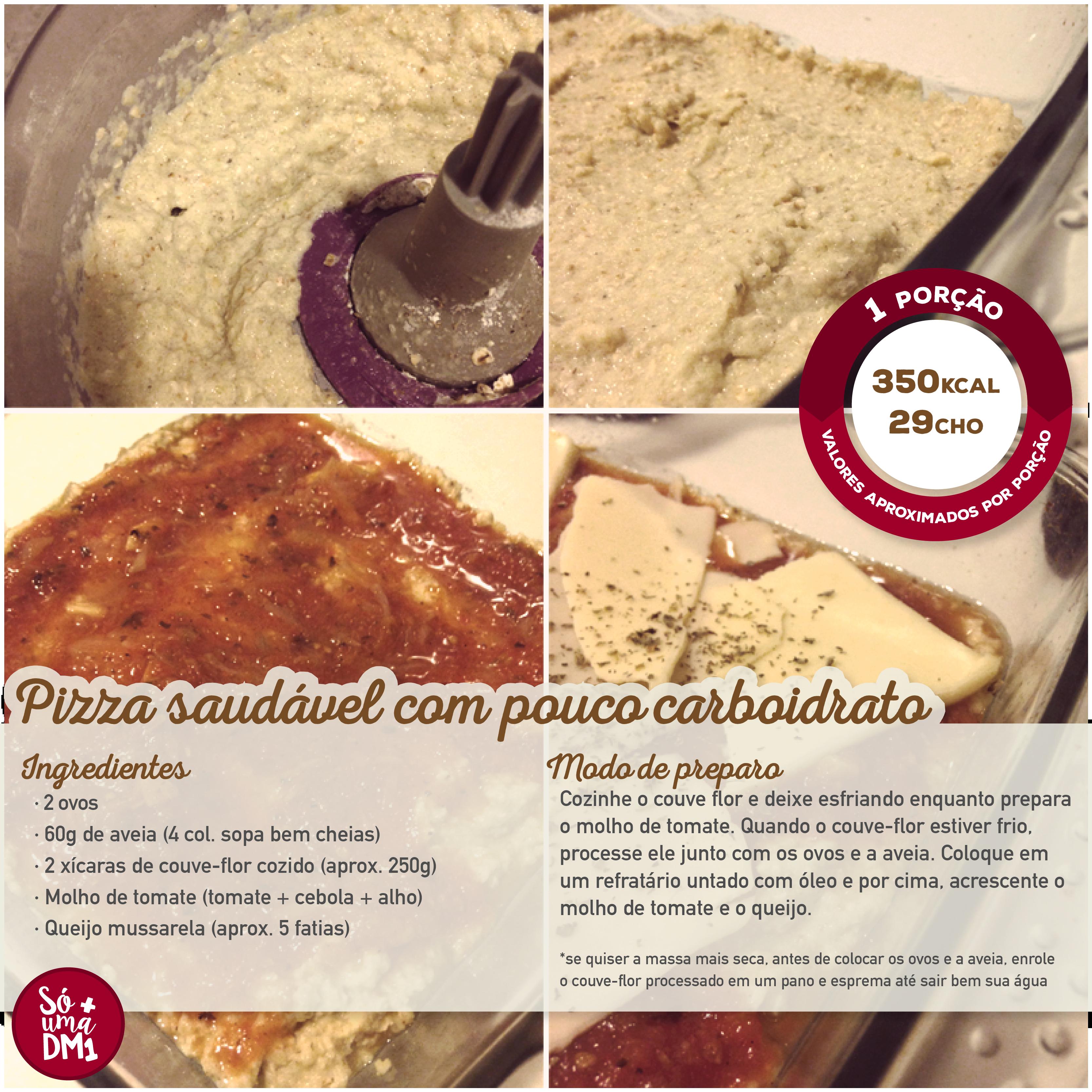 Pizza saudável low carb