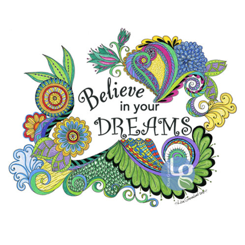 Believe in Your Dreams—Single note card