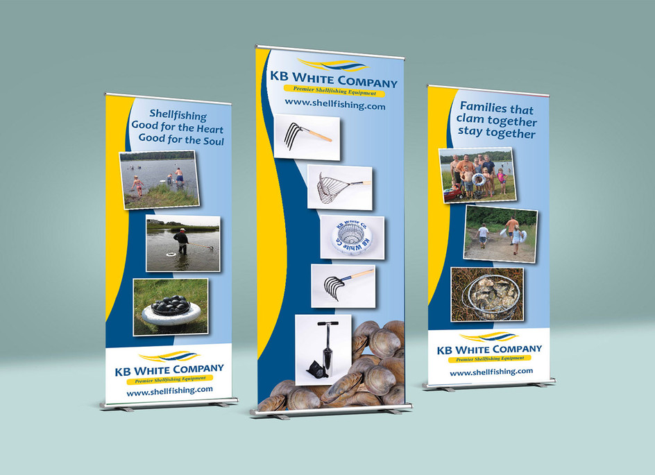 KB White Retractable Banners