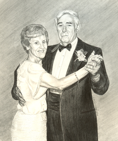 Rememberance portrait of Nana & Papa
