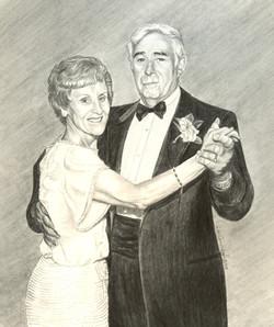 Rememberance portrait of Nana & Papa