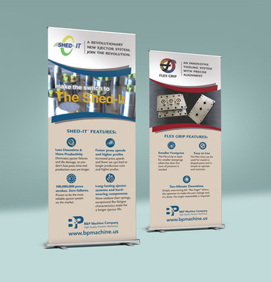 B&P Machine Banners for trade show