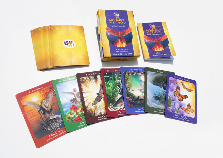 The Monarch Method box set Oracle cards and guide box