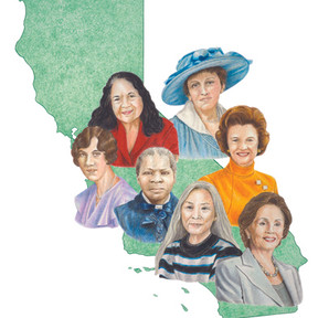 Women of the Golden State cover illustration