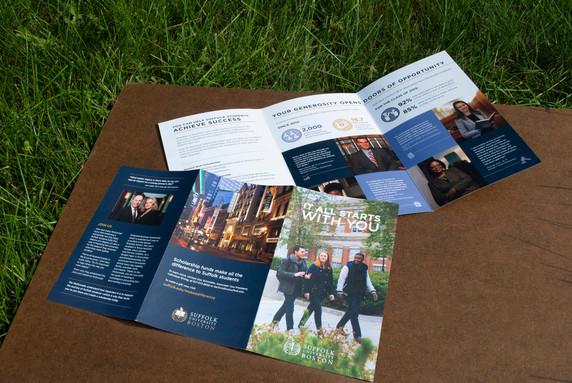 Suffolk University Scholarship funding brochure