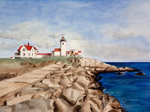 Coastal Lighthouse, Gloucester, MA  — 16 x 14, giclée print