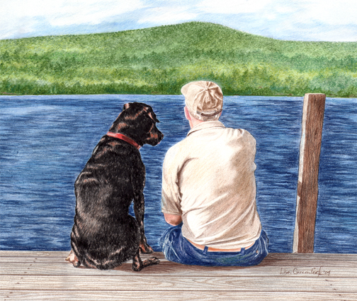 Dogs Best Friend, commissioned piece