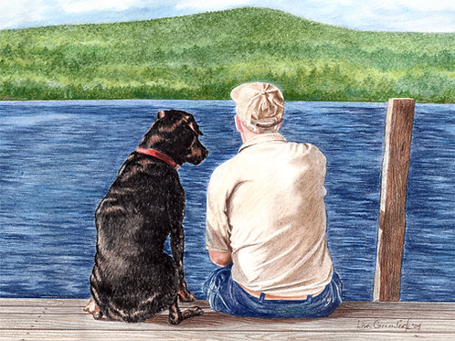 A DOGS BEST FRIEND– single note card