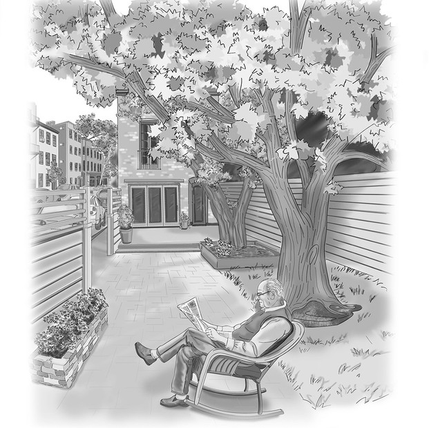 Enjoying living in the city— Illustration for the How to Live a Magnificent Life book
