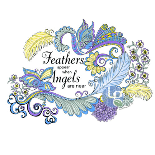 Feather Appear when Angels Near—Single note card