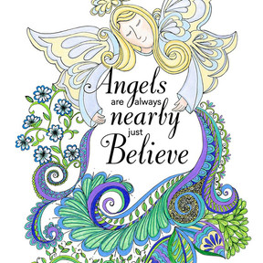 Angels are always nearby just believe doodle
