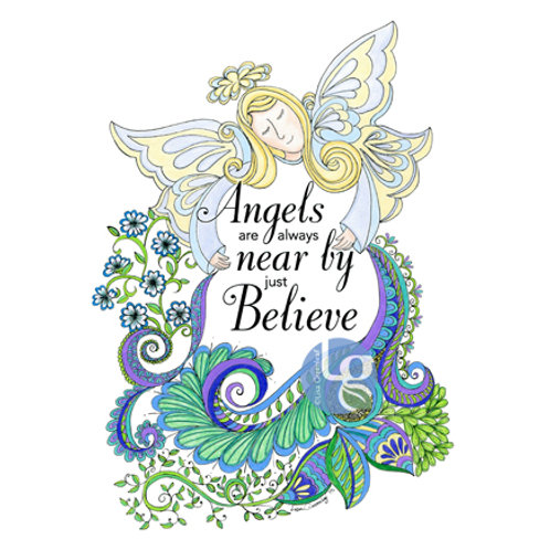 Angels are Near by Just Believe — 9.25 x 12.5, Print
