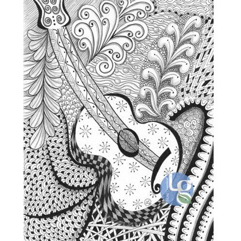 Guitar Two — 8 x 10, Print