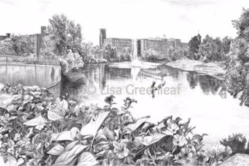 River Reflections, Nashua, NH — 18 x 12, giclée print