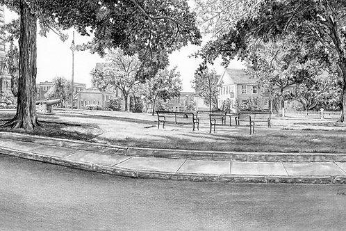 Library Hill, Nashua, NH — 18 x 12, giclée print