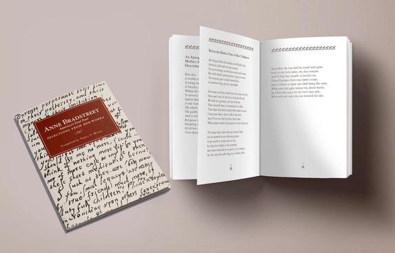 Anne Bradstreet poetry book interior type formatting
