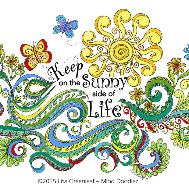 Keep on the Sunny side of Life doodle