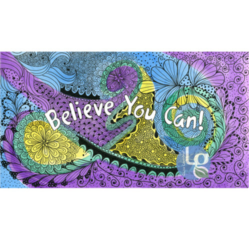 Believe You Can—Single note card