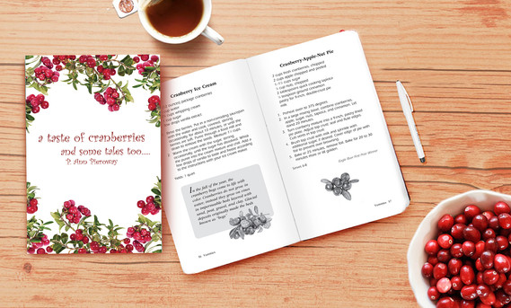 A Taste of Cranberries and Some Tales too book design & illustrations