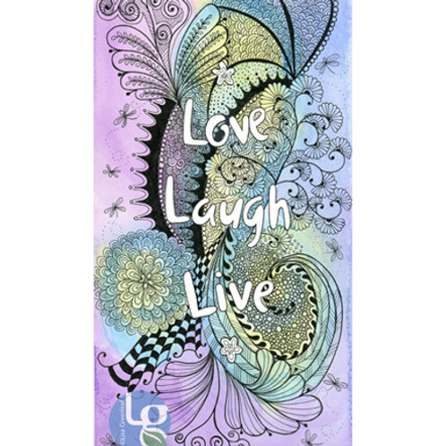 Love Laugh Love—Single note card