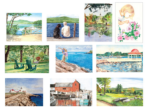 10 Assorted Note Cards, B4