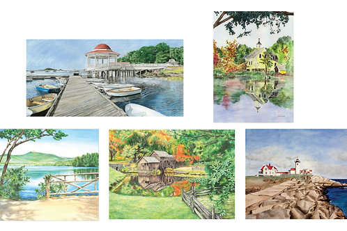 5 Assorted Note Cards, A1