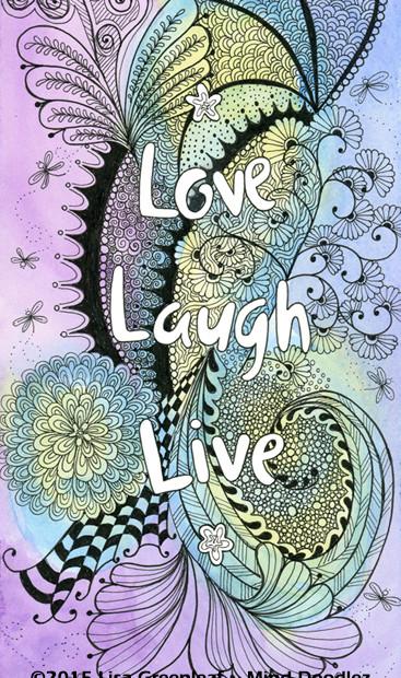Love Laugh & Live doodle