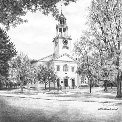 FIRST PARISH CHURCH, Manchester, MA—single card