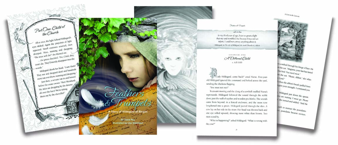 Feathers & Trumpets book design