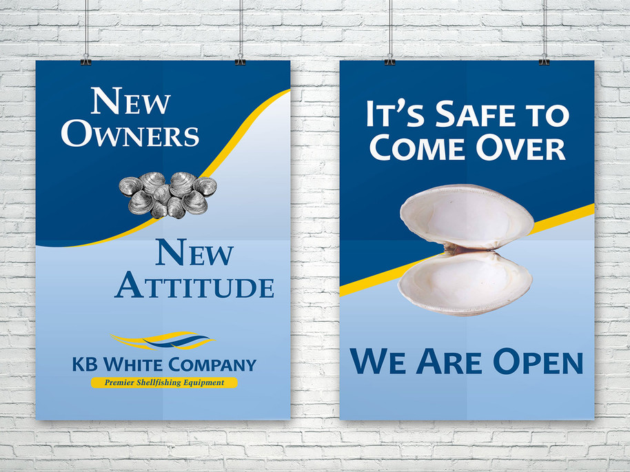 KB White Co. Posters