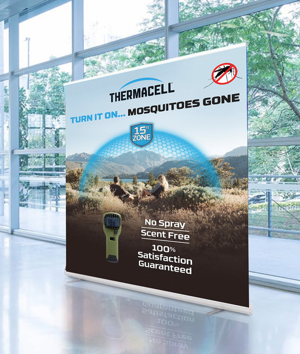 Thermacell Pop Up Banner