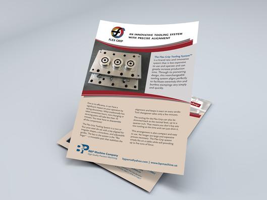 FlexGrip informational sheet for trade show