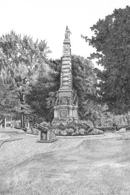 Civil War Monument, Nashua, NH — 13 x 16, giclée print