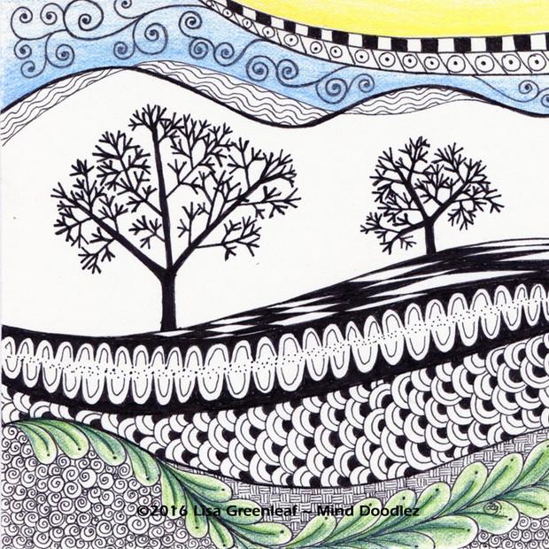 Tree scape doodle