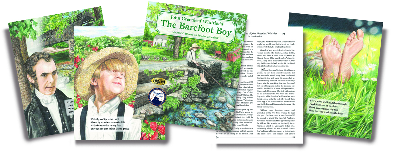 The Barefoot Boy book design