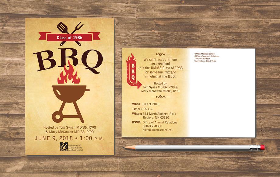 BBQ Reunion Postcard