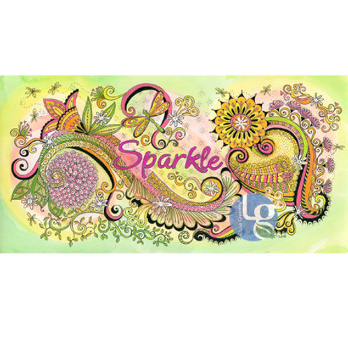 Sparkle—Single note card