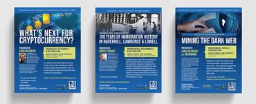 UMass Lowell Haverhill iHub Cultural Series flyers