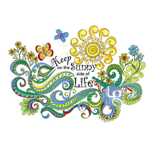 Keep on the Sunny side of Life—Single note card