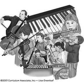 Illustrations used in Curriculum Associates Inc. products