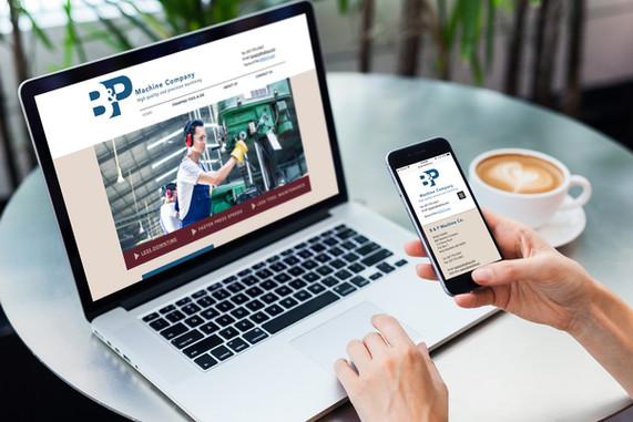 B&P Machine Company website design