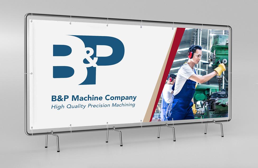 B&P Machine Trade show banner