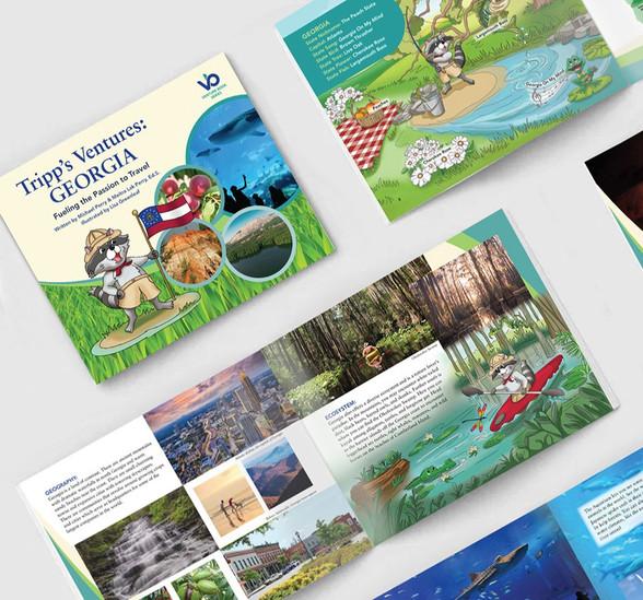 Tripps Venture Books: GEORGIA, | product development, Cover, illustrations and interior book design