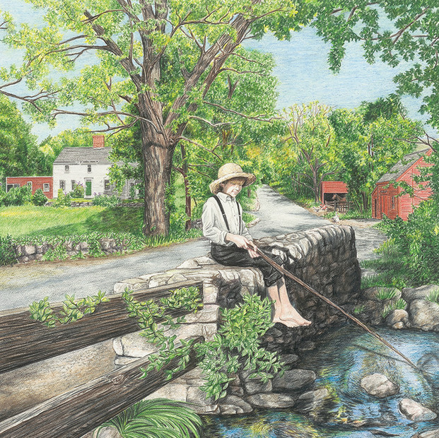 John Greenleaf Whittier's The Barefoot Boy book cover illustration