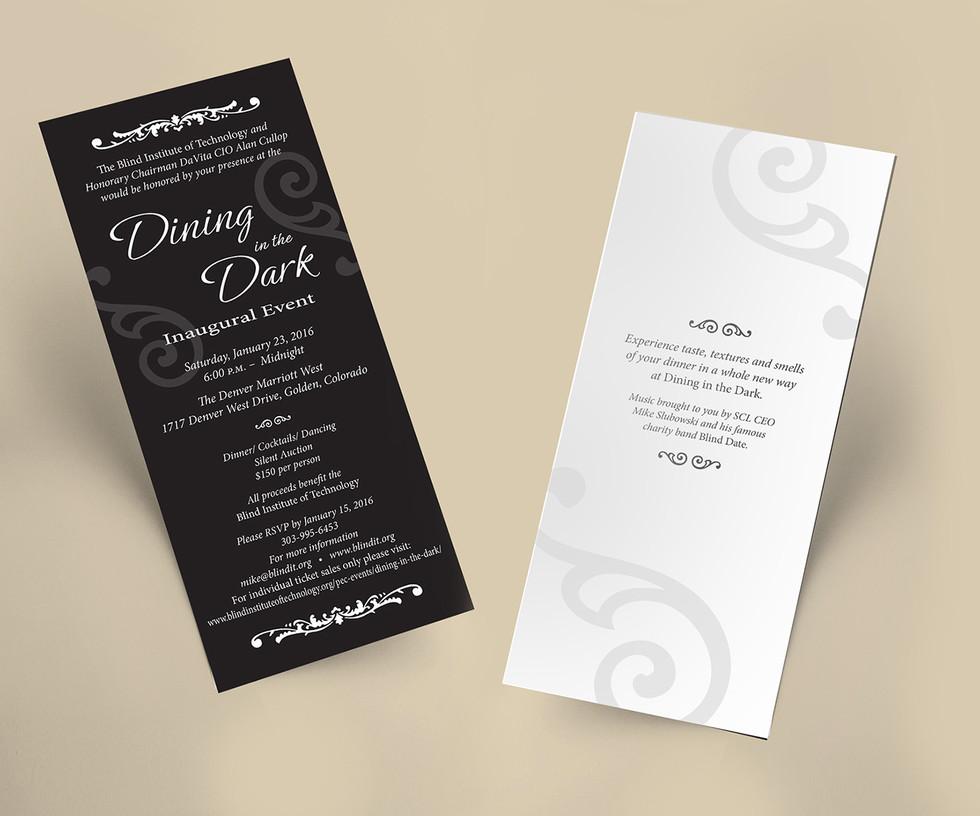 BIT Dining in the Dark Gala Invitations