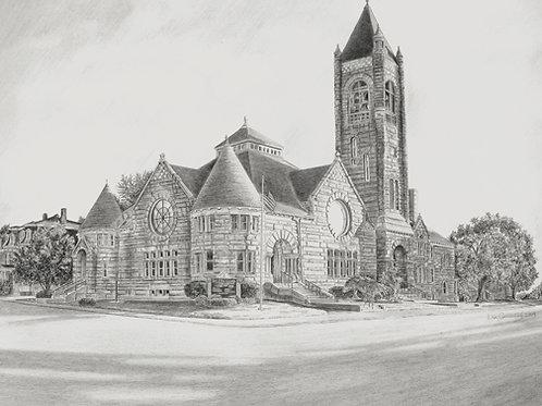 The First Church, Nashua, NH— 14 x 14, giclée print