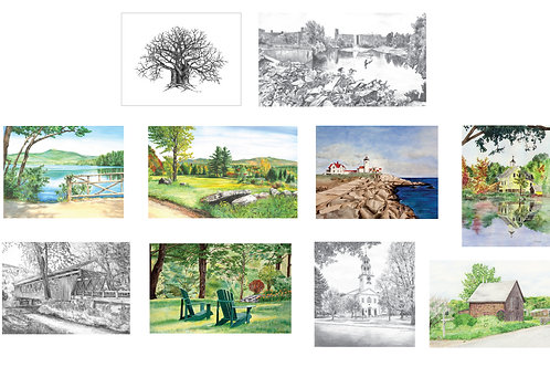 10 Assorted Note Cards, B2