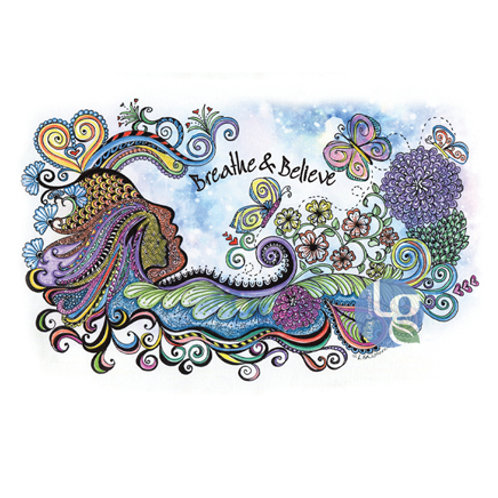 Breathe & Believe—Single note card