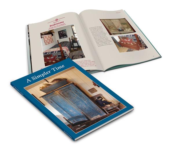 A Simpler Time book, layout design & typeformat